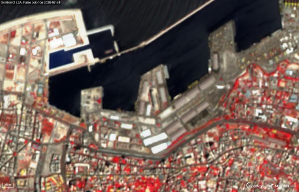 Explosion in Beirut Seen from Space