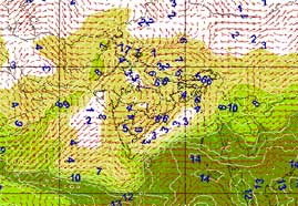 A GIS application for weather analysis and forecasting