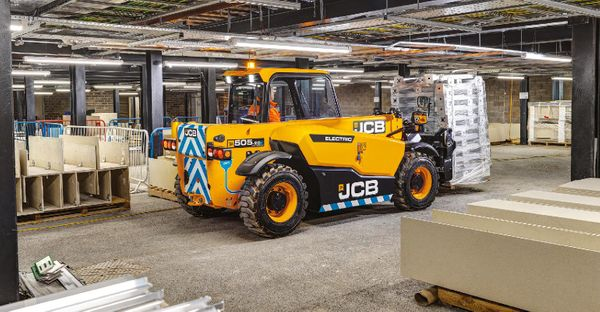 JCB is launching the 505-20E Loadall telehandler — and the E stands for electric.