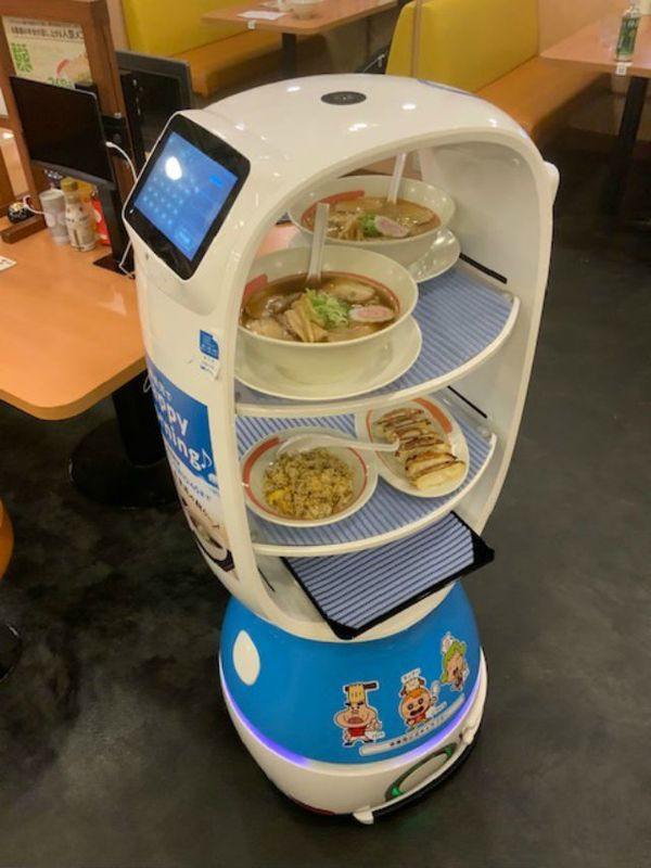 Japanese ramen chain debuts ramen delivery robot for social distancing