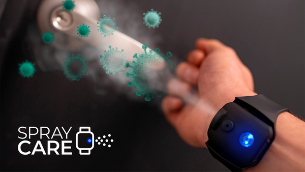 THIS WEARABLE WRISTBAND LETS YOU SHOOT A STREAM OF SANITIZER AT OBJECTS LIKE SPIDERMAN
