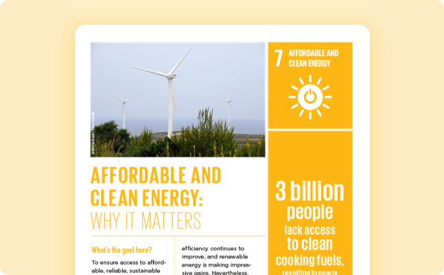 Ensure access to affordable, reliable, sustainable and modern energy